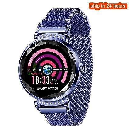 WHKNY Reloj Inteligente H2 Smartwatch Mujeres Diamond ...