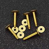 MOPOLIS Solid Copper Color Rivets LeatherCraft Fasteners Gauge Horse Tack 9mm 10mm 5pcs   Size - 10x3.3x19mm