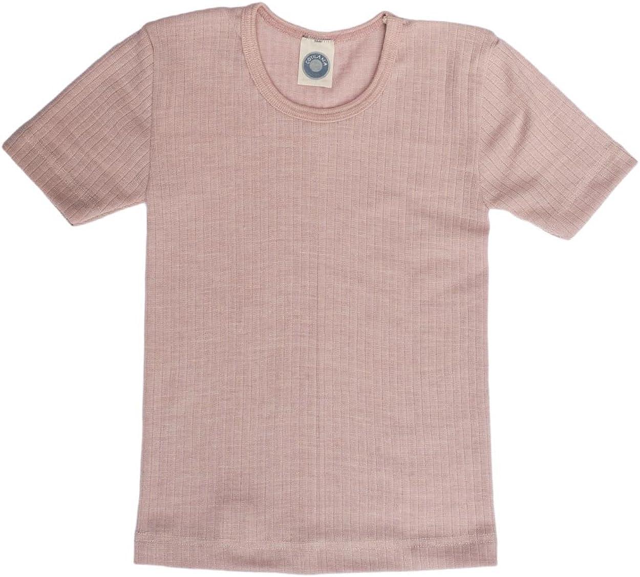Cosilana Maillot de corps /à manches courtes pour enfant 45 /% coton KBA 35 /% laine biologique 20 /% soie