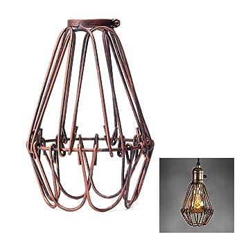Pantalla de lámpara de Jaula Vintage, Industrial, Retro, de Metal ...