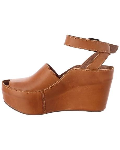 ee1dad58cd8 Chocolat Blu Women s Wisper Ankle Wrap Buckle Chunky Platform Wedge Sandal  (10 B(M) US