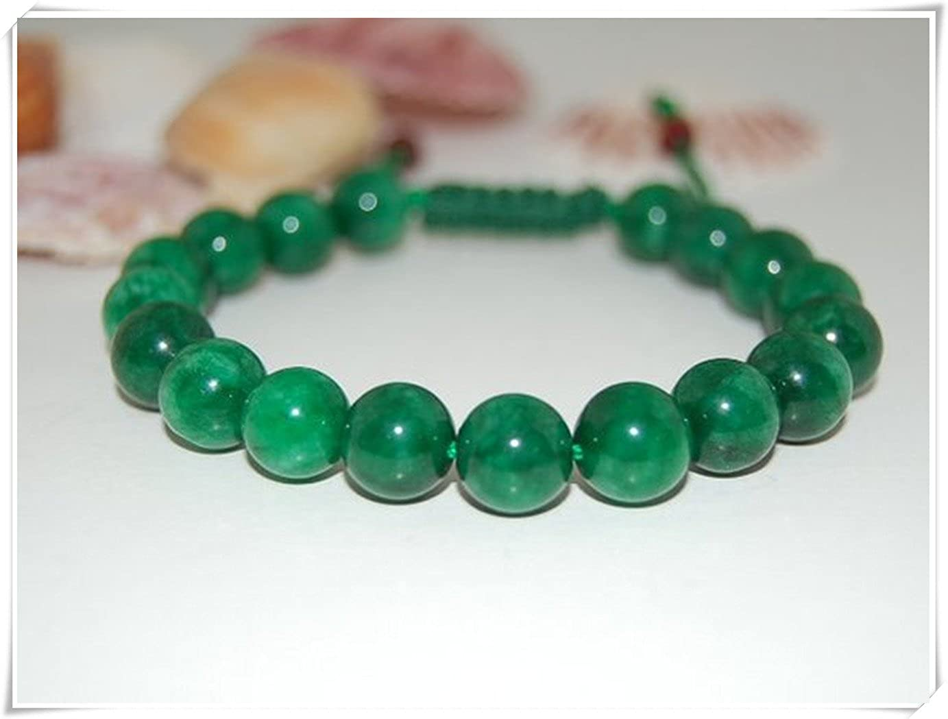we are Forever family Green Jade Bracelet,Shamballa Bracelet,Exquisite jewelry, pure handmade ce67