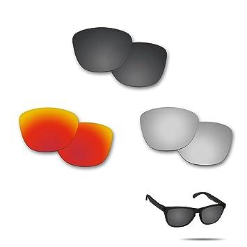 fiskr anti-saltwater lentes de repuesto para Oakley Frogskins Polarizados Gafas De Sol 3 par
