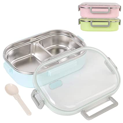Stainless Steel Lunch Box 2 Compartment Bento Box Insulated Food Container  Lunch Container Leak Proof Food Storage Boxs for Adults, Kids, Children for