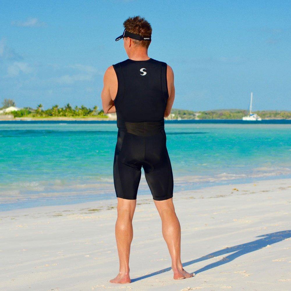 Synergy Triathlon Tri Suit Men's Trisuit (Black/Black, XX-Large) by Synergy (Image #6)