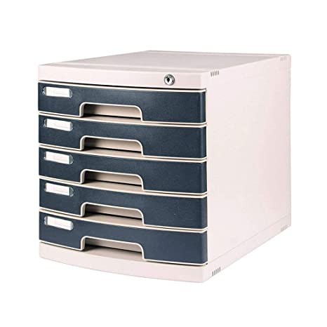 Amazon.com: File Cabinets 5 Layers Lockable Desktop Plastic ... on