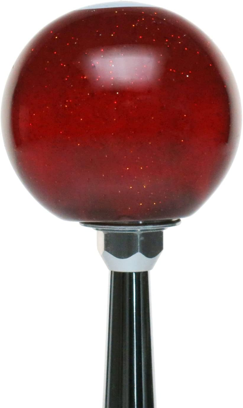 8 Ball American Shifter 143135 Red Metal Flake Shift Knob with 1//2-13 Insert