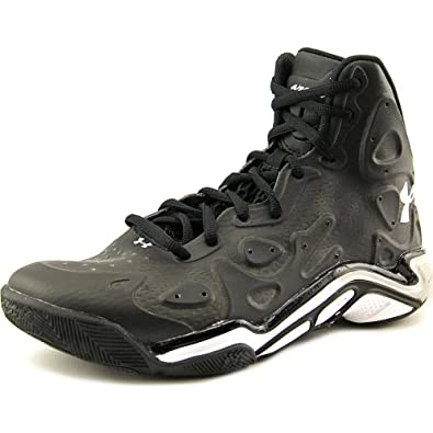 under armour shoes black and white. men\u0027s under armour micro g anatomix spawn ii basketball shoes black/white size 8.5 m black and white