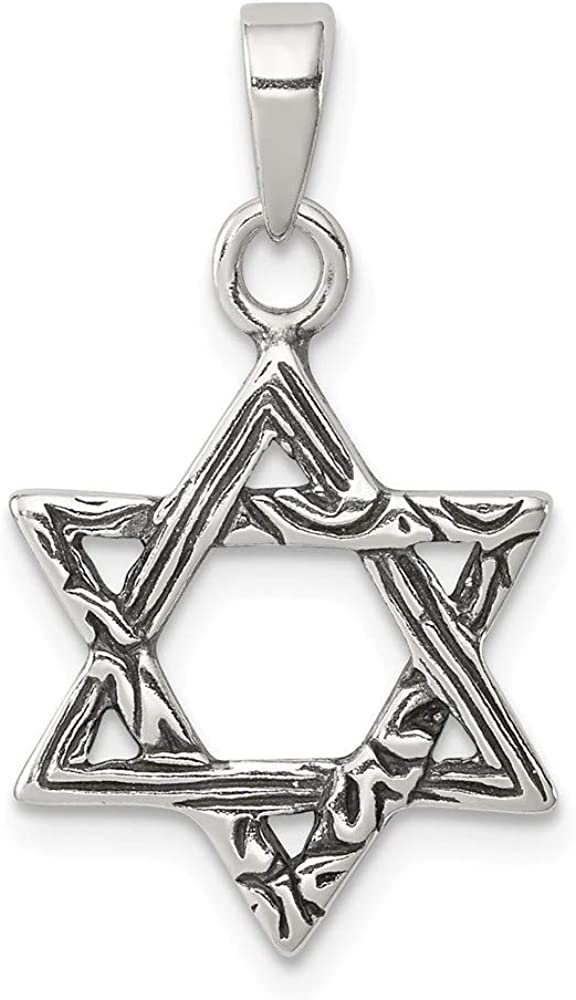 Roy Rose Jewelry Sterling Silver Antiqued Star of David Charm