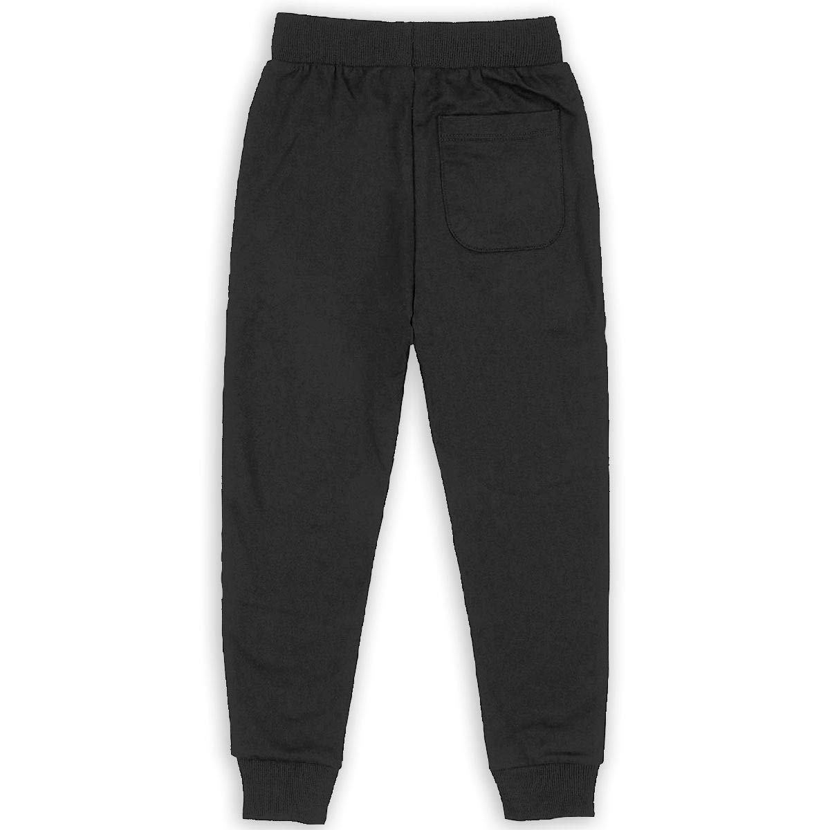 Rainbow Peace Sign Pride Boys Sweatpants,Joggers Sport Training Pants Trousers Black