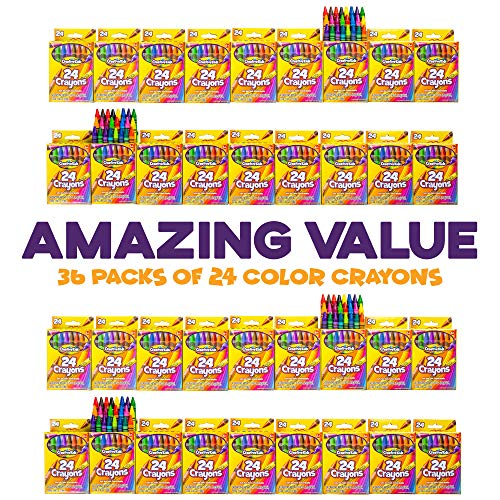 Creative Kids Bulk Classroom Crayons – 36 Packs of 24 Bright, Vibrant Wax Coloring Crayons for Preschool, Kindergarten, Elementary School & Art Class Teachers – ASTM Certified Non Toxic by Creative Kids (Image #1)