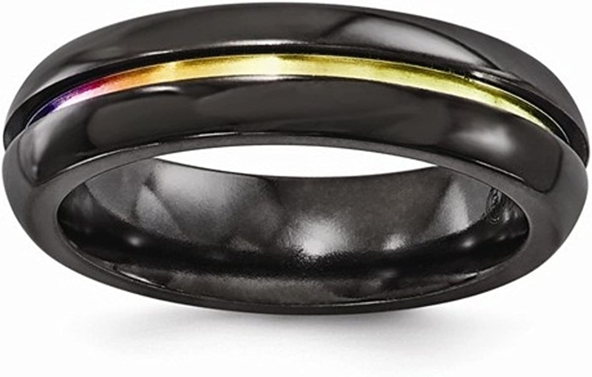 It is just a graphic of Edward Mirell Black Titanium Grooved Multi-Colored Anodized 48mm