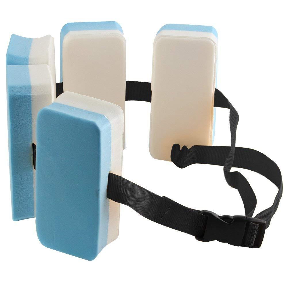 Starter Cinturón Flotador para niño, con Cierre de Seguridad, EVA Cinturón de Flotación Aprendizaje150 mm * 70 mm * 225 mm Azul y Blanco: Amazon.es: ...