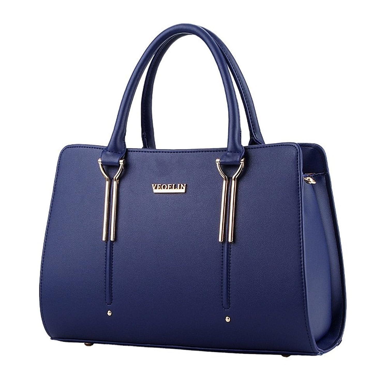 Generic Women Purse Handbag Messenger Shoulder Bag (Blue)