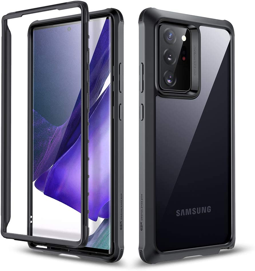 Full-Body Protective Case Without Built-in Screen Protector Shockproof Bumper Black ESR Tough Case for Samsung Galaxy Note 20 Ultra Alliance Series