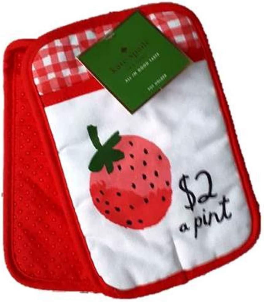 Kate Spade 2-Pack Pot Holder Fresh Strawberries, Hibiscus