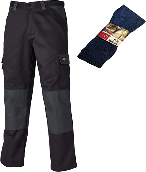 Various Sizes Dickies Everyday Multiple Pocket Work Shorts Black /& Lime