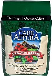 Cafe Altura Whole Bean Organic Coffee, Dark Decaf Mountain Water, 5 Pound