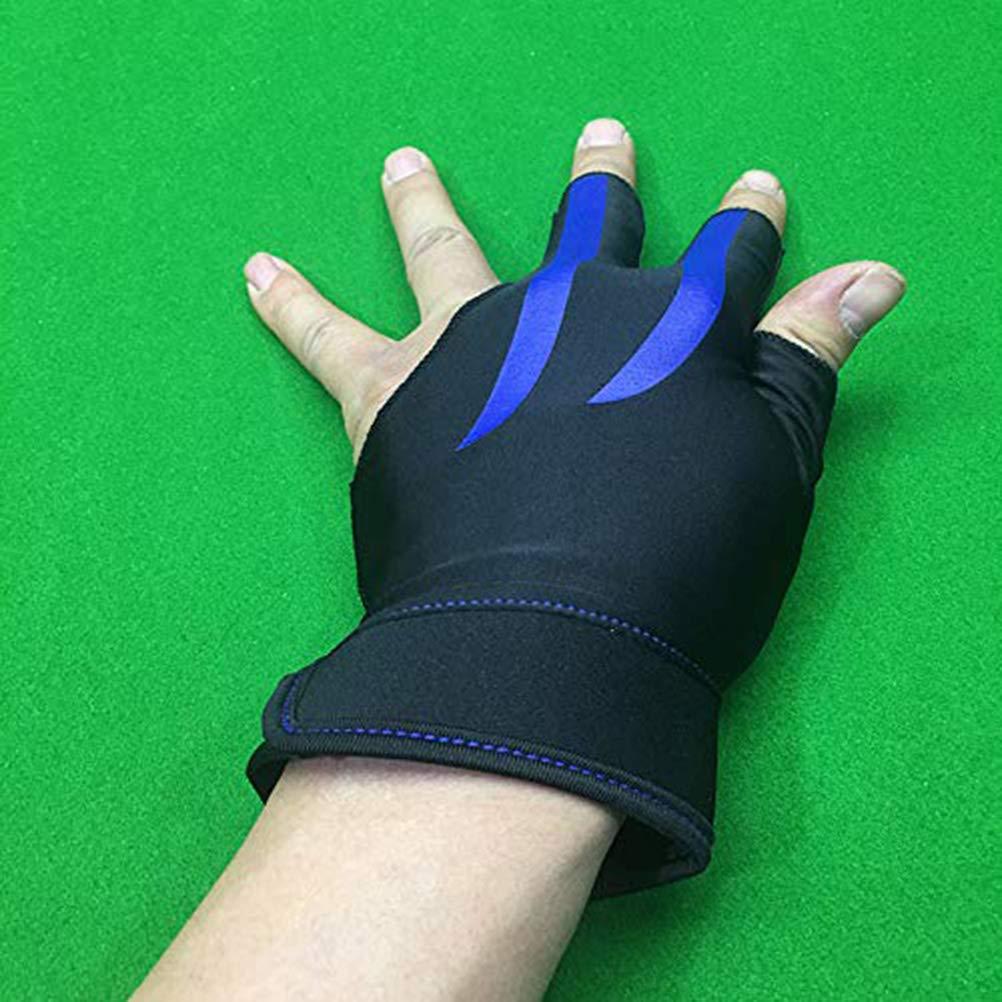 1 unids 3 Dedos Dedo Billar Billar Hombres Mujeres Billar Cue Guante Piscina Deporte Mano Izquierda Tiradores de Billar Snooker Mitts