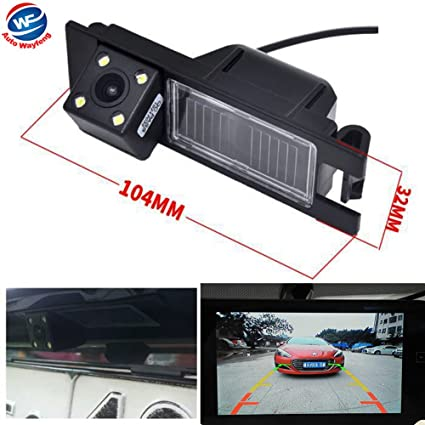 HD 4leds Car Rear View Backup Camera Parking Reverse Back Up Cam Waterproof CCD