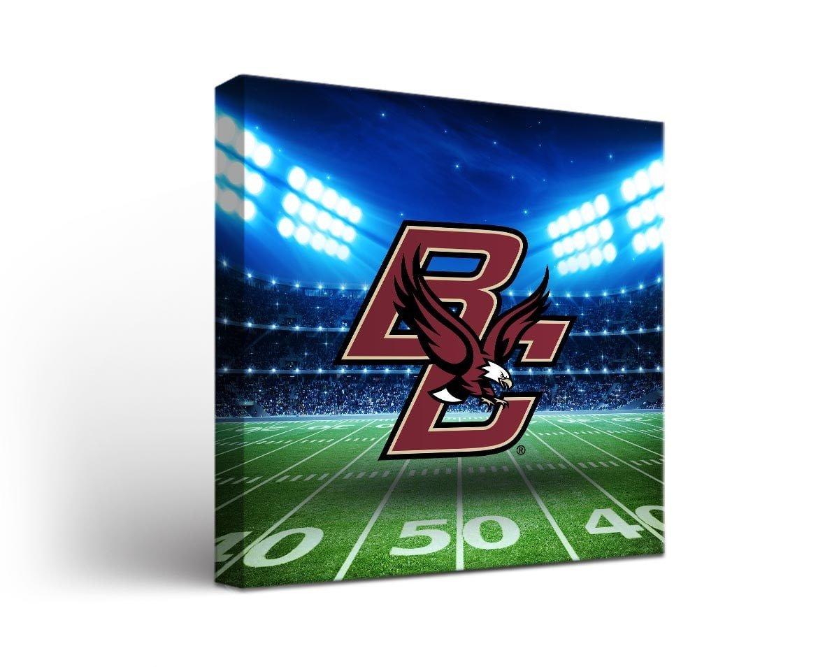 Victory Tailgate Boston College Eagles Canvas Wall Art Stadium Design (18x24)