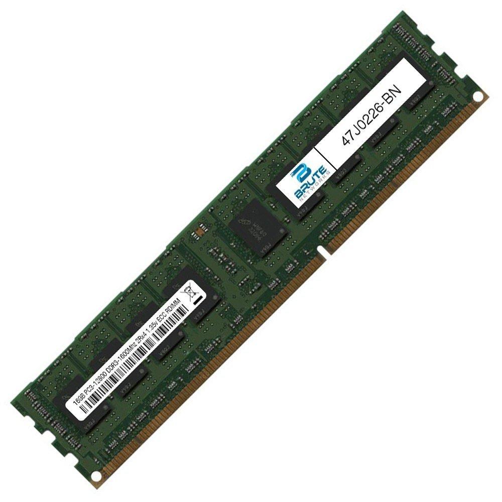 Brute Networks 47j0226 Bn 16gb Pc3 12800 Ddr3 1600mhz 2rx4 135v Samsung Memory Server 12800r Ecc Rdimm Registered Equivalent To Oem Pn At