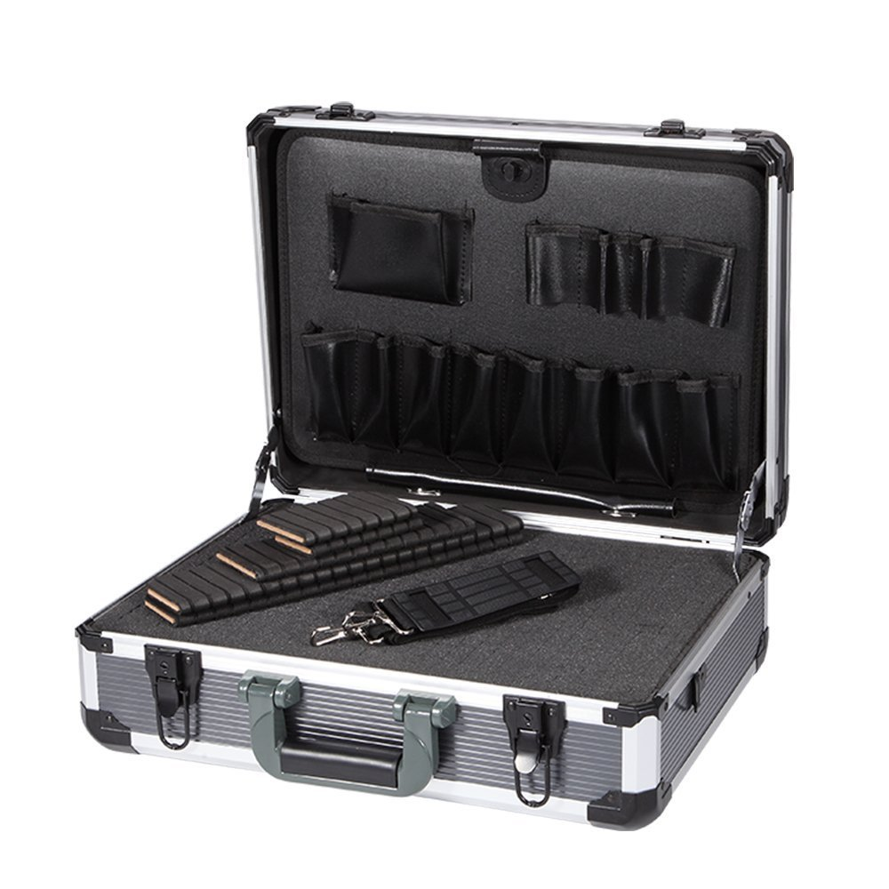 Aluminum Hard Tool Box Case Portable Carrying Case Briefcase Flight Cases Tool Case Organizer Toolbox Storage Box