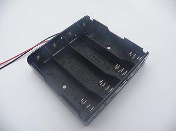 1/2/3/4 Slot Li-Ion 18650 Cubierta Soporte de batería de plástico 3.7 V 18650 caja pilas con hilos tapa elefante En parallèle 4 slot × 5 pièces: Amazon.es: Electrónica