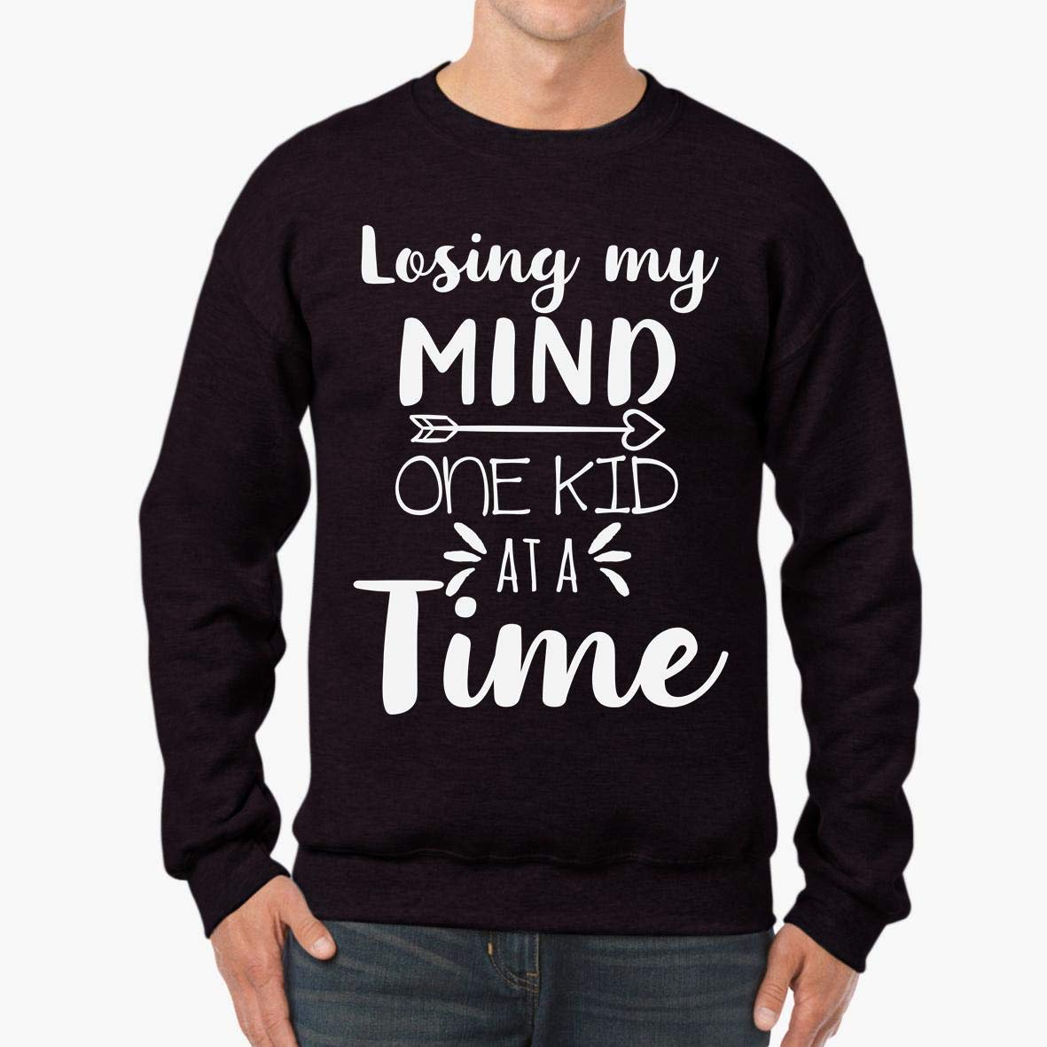 tee Losing My Mind one Kid at a time Unisex Sweatshirt