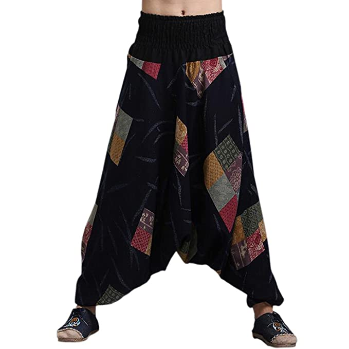 Amazon.com: Para hombre para mujer Boho Hippie Baggy ...
