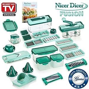 compra genius nicer dicer fusion julietti cortador de fruta y verdura 34 piezas en. Black Bedroom Furniture Sets. Home Design Ideas