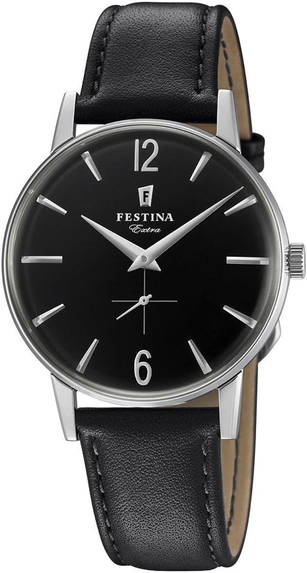 Festina Reloj Análogo clásico para Hombre de Cuarzo con Correa en Cuero F20248/4