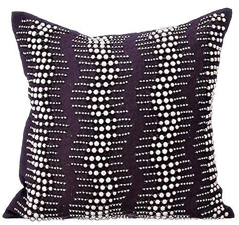 The HomeCentric Púrpura Fundas para Cojines 65 x 65 cm, Seda ...