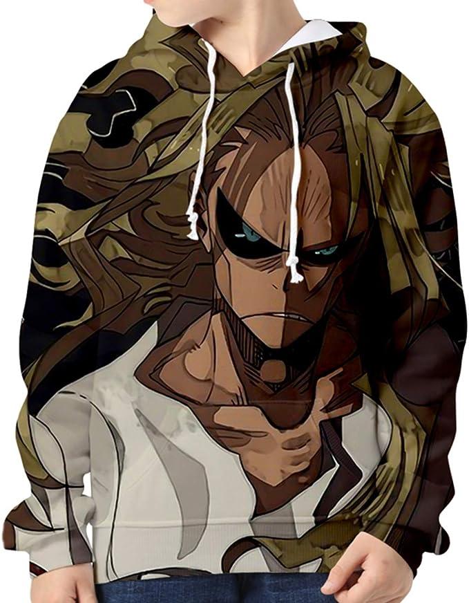 Anime My Hero Academia Sweat /à Capuche Boku No Hero Academia Sweat-Shirt imprim/é 3D Todoroki Shoto Bakugou Katsuki Cosplay Costume Veste Outwear pour Adultes Enfants