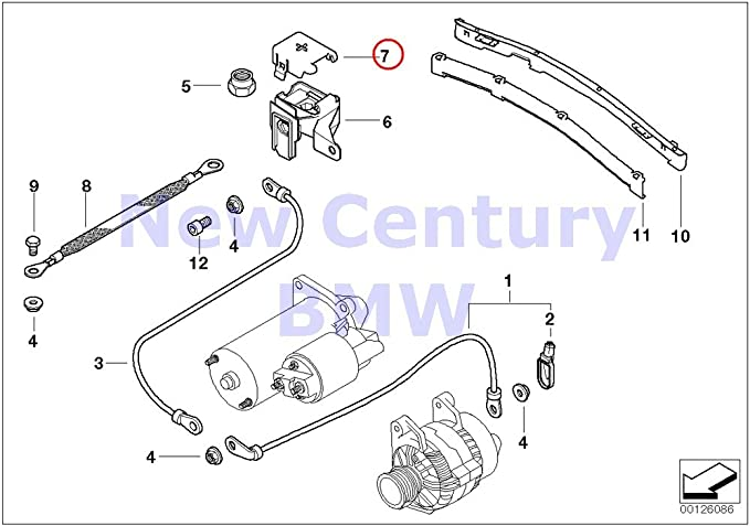 Amazon.com: BMW Genuine B+ Terminal Point Engine Compartment Battery Cable  Cover Base B+ 320i 323Ci 323i 325Ci 325i 325xi 328Ci 328i 330Ci 330i 330xi  M3 X3 2.5i X3 3.0i: Automotive   Battery Wire Diagram From 2000 323ci Convertible      Amazon.com