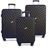 Luggage Set 3 Piece Baggage Suitcase Lightweight Expandable Hardside Spinner TSA Carry On Wheel Black