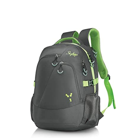 Skybags 38 Ltrs Grey Laptop Backpack (CREW3GRY)  Amazon.in  Bags ... e2e6287191d66