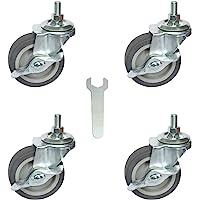 AAGUT Caster Wheels, 3 Inch Rubber Wheels Heavy Duty, 1/2