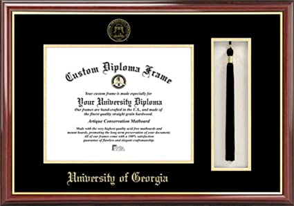 Amazon.com : Georgia Bulldogs UGA Diploma Frame and Tassel Box ...