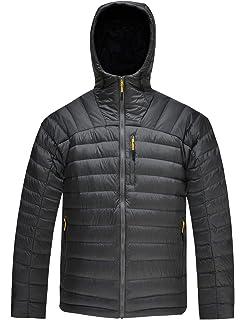 27920fdc986e HARD LAND Men s Packable Down Jacket Hooded Lightweight Winter Puffer Coat  Outerwear
