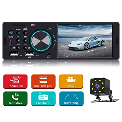 4 1 Inch Car Stereo MP5 Player Single Din Car Stereo with handsfree Call  Car Radio Audio Support Steering Wheel Control Rear View Camera Support USB