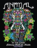 #6: Coloring Book for Adults : Animal in The Dark: Wild animal on Black Backgound pages