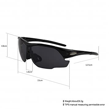 Gafas de Moda Tendencia Gafas Polarizadas Hombres , Lente Gris / Marco Negro Brillante