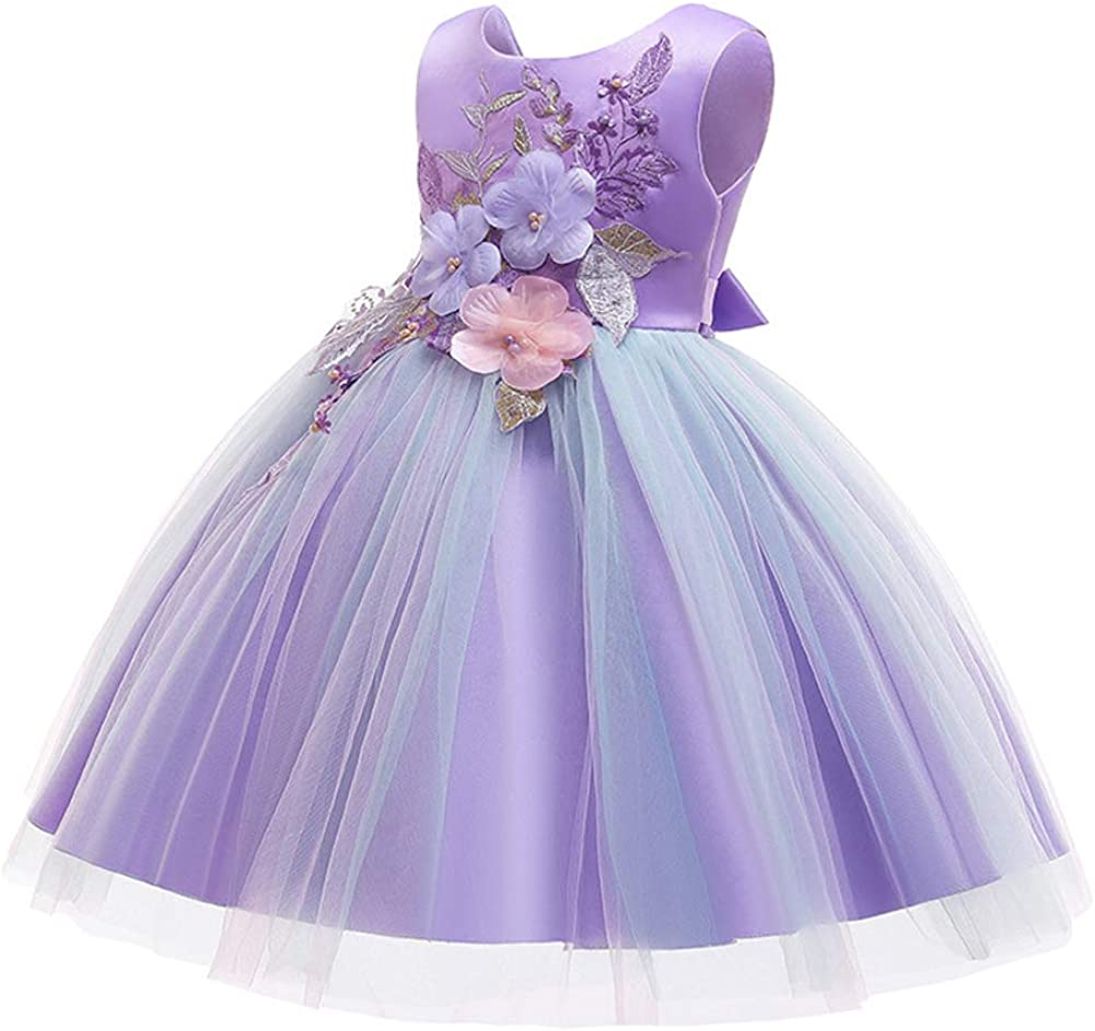 LZH Girls Bridesmaid Dress Wedding Pageant Party Princess Gown Prom Dresses