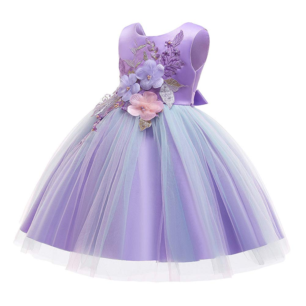 LZH Girls Dress Wedding Pageant Party Princess Gown Prom Bridesmaid Dresses