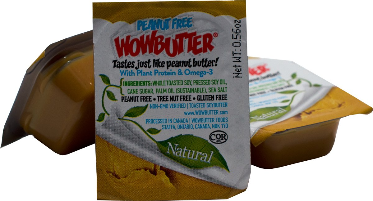 Wowbutter Natural Peanut Free Creamy 200x0.56oz Portion Cups