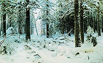 Winter by Ivan Shishkin. 100% Hand Painted.Oil On Canvas. Reproduction. (Unframed and Unstretched).