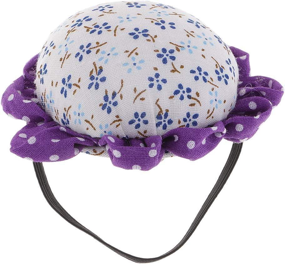 KJ136 as described Baoblaze Flowers Shape Pincushion Wrist Cushion Arm Pincushion For DIY Sewing Craft Tool