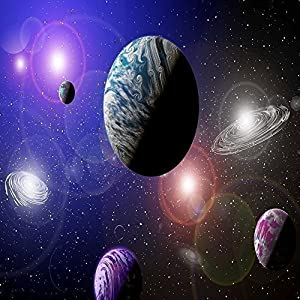 GIANT SCI FI WALLPAPER ALIEN PLANETS SOLAR SYSTEM SPACE WALL MURAL 3.35 X  2.36m