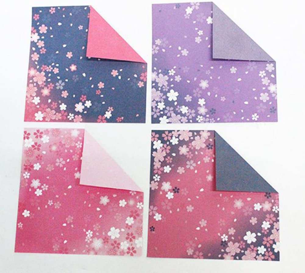 Folded Paper Origami Paper 15/x 15/cm 60x Milopon Kids Craft Paper Assorted Colours 4/Origami Paper Double-Sided